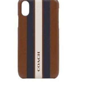 NEW Coach X/Xs Varsity Stripe Case
